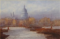 st pauls from bankside by frederick edward joseph goff