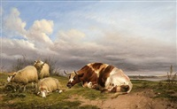 canterbury meadows by thomas sidney cooper