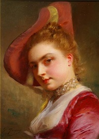 an admiring expression by gustave jean jacquet