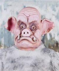 warthog portrait by marnie weber