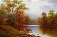 on the wharfe, yorkshire by william mellor