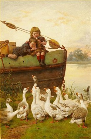 taunting the geese by herbert william weekes