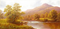 on the wharfe & rydal water (pair) by william mellor