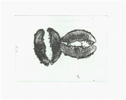 lip prints portfolio by donald sultan
