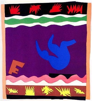 le tobogan, from jazz suite by henri matisse