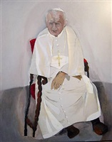 portrait of pope john paul ii by dmitri krymov