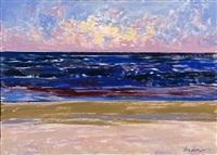 ocean sunrise ballstone beach by alan gussow