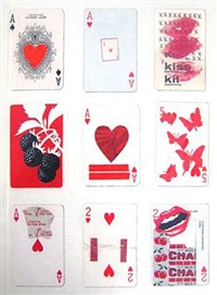 untitled (9 cards) by joe brainard