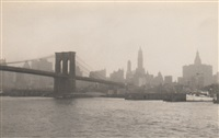 brooklyn bridge, nyc skyline by edward w. quigley