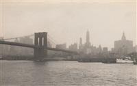 brooklyn bridge, nyc skyline by edward w. quigley