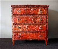 acrylic painted motif on commode by françois archiguille