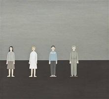 two girls and two boys (två flickor och två pojkar) by rita lundqvist