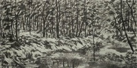 winter forest by nguyen bach dan