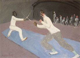 fencers by milton avery