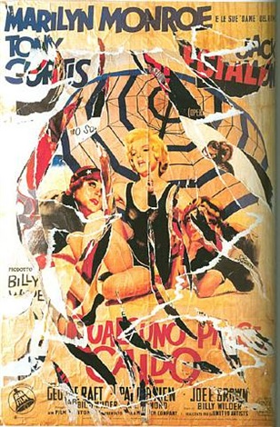 dame del ritmo (marilyn monroe, some like it hot) by mimmo rotella