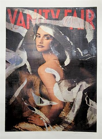 vanity fair (penelope cruz) by mimmo rotella