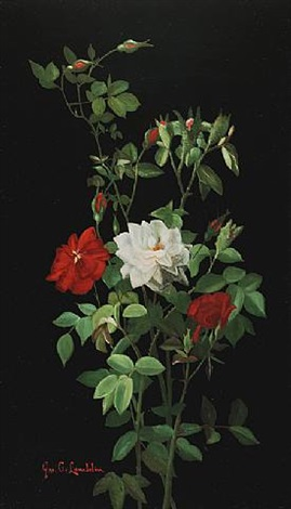 still life with roses by george cochran lambdin