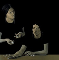zehn sonnenuntergänge (triptychon, teil ii) by agate apkalne