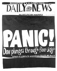 stock market: up and down panic! (20th october 1987) by aleksandra mir