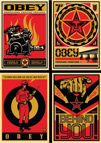 20 year retro series ap 4 print set by shepard fairey
