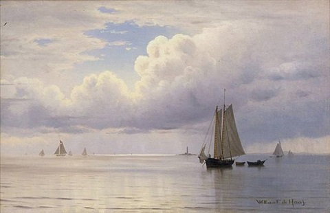 september day at boon island, maine by william frederick de haas