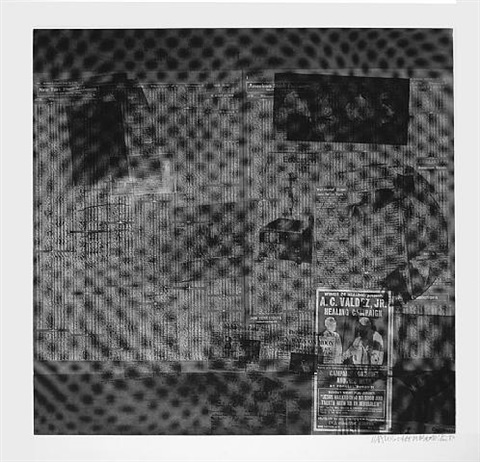 surface series, foster 122 by robert rauschenberg