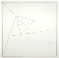 wall drawing #1191: the location of an equilateral triangle by sol lewitt