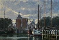 harbor scene by hennie de korte