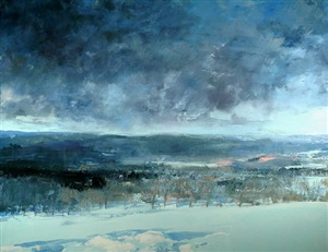 unsettled winter sky by eric aho
