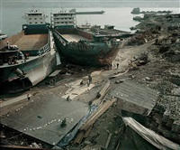 demolished houses & repaired ships (fengjie) by chen jiagang