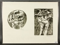 untitled (4 works from dante's inferno) by rico lebrun