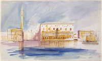 the doge's palace, venice by edward lear
