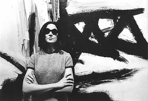 virginia dawn in her gallery during a franz kline exhibitiion, westwood, c. 1962 by dennis hopper
