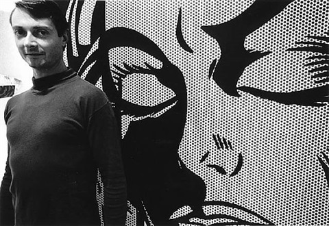 roy lichtenstein in his studio, 1964 by dennis hopper