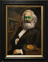 saint marx with a loaf of bread as human being by kim kira