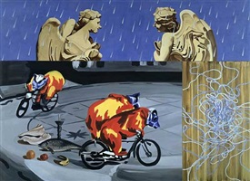 angels in the rain by david salle