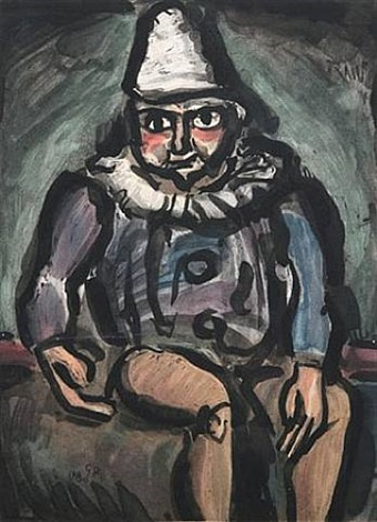 le vieux clown by georges rouault