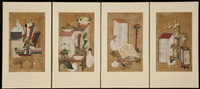 a small four-panel chaekkori screen by anonymous-korean (19)