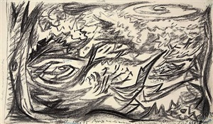 untitled (paysage avec des animaux) by andré masson