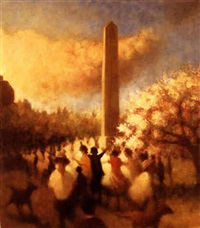 under the oblisk i, central park by bill jacklin