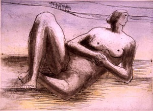 from: the reclining figure portfolio by henry moore