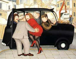 girls in a cab by beryl cook