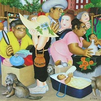 street market by beryl cook
