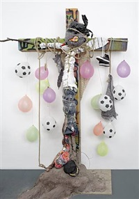 three (cross with balloons) by agathe snow