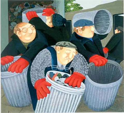 dustbin men by beryl cook
