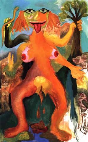 goddess in street (narrow version) by ken kiff