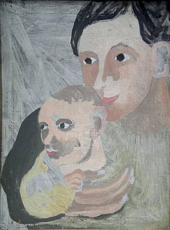 mother and son by ben nicholson
