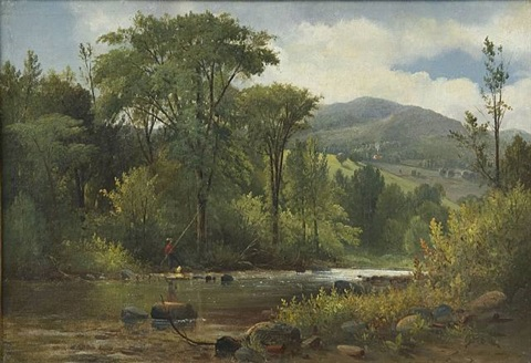 country river landscape by samuel w. griggs
