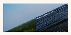 new horizons / land + sea (serie gb3) by jan dibbets