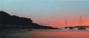 tuxis at sundown (sold) by peter bergeron